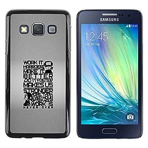 KOKO CASE / Samsung Galaxy A3 SM-A300 / trabajar más fuerte vida mejor cotización / Delgado Negro Plástico caso cubierta Shell Armor Funda Case Cover
