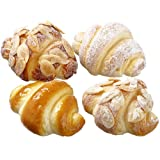 3'' Artificial Bagged Assorted Mini Croisannts -2 Tone Brown (pack of 12)