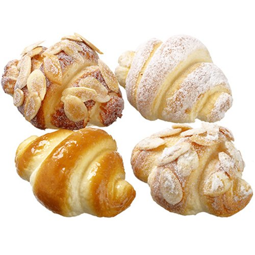 3'' Artificial Bagged Assorted Mini Croisannts -2 Tone Brown (pack of 12) by SilksAreForever