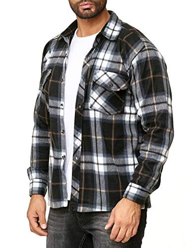 Quadretti Egomaxx Uomo Camicia Lumberjack Grigio Pile A In FaYgrF