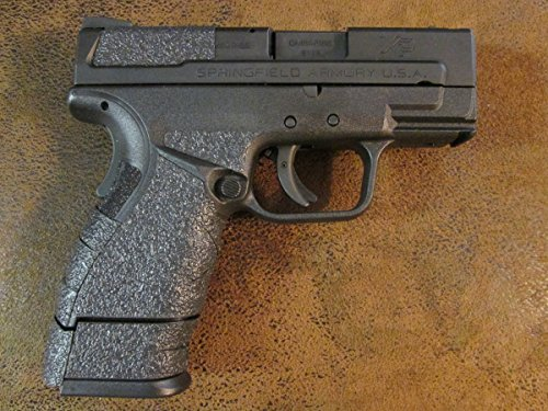 Black Textured Rubber Peel and Stick Grip Enhancements for Springfield Armory XD MOD.2 Sub-Compact 9mm or .40 Caliber 3