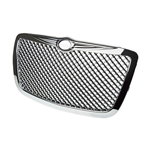 For Chrysler 300/300C ABS Plastic Mesh Front Bumper Grille (Chrome) - 1st Gen