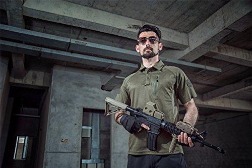 QCHENG Polo Militaire Camouflage Uniforme Tactique Séchage Rapide Manche Courte Hommes T-Shirt de Airsoft Combat Chasse… 2