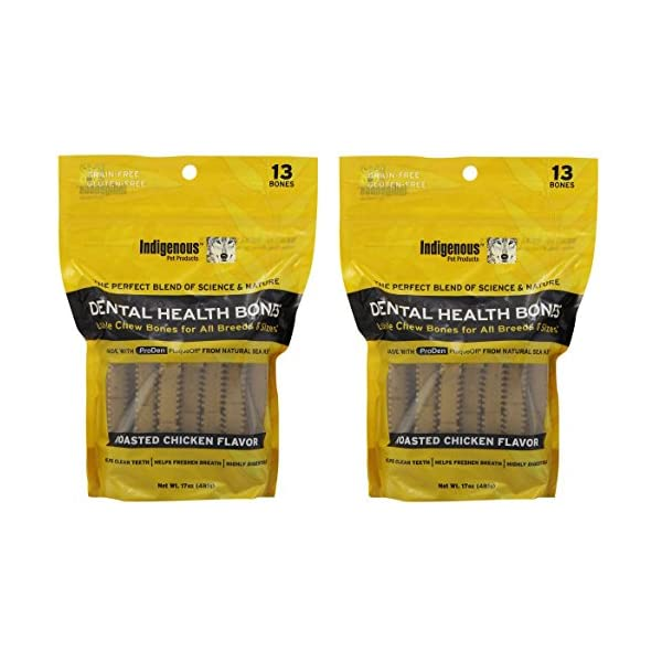 (2 Pack) Indigenous Dental Health Bones Roasted Chicken 17 Ounces each Click on image for further info.
