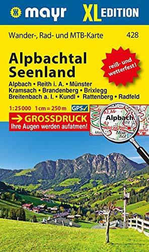 Alpbachtal, Seenland XL: Wander-, Rad- und Mountainbikekarte. GPS-genau. 1:25000 (Mayr Wanderkarten)
