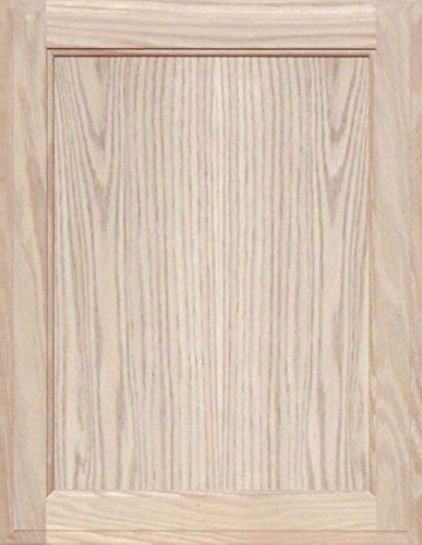 Unfinished Oak Square Flat Panel Cabinet Door by Kendor, 22H x 17W