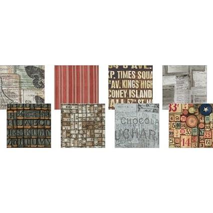 Freespirit Fabrics FB3DRTH8-DOCUM 8-Piece Tim Holtz Design Roll Eclectic Elements Documentation 2.5 by 44-Inch
