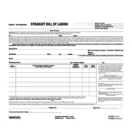 AmazonCom  SnapAWay Bill Of Lading  Blank Shipping Forms