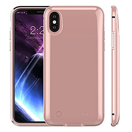IPhone X Battery Case 5000mAh Rechargeable External Portable Power Charger Protective Charging For