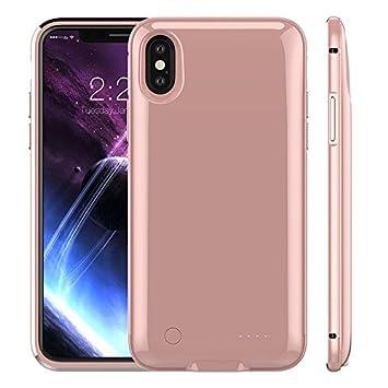 Funda Bateria para iPhone X/Xs Recargable 5000 mAh, Bateria Externa Recargable Cargador Portatil Protector Estuche de Carga para iphone X/Xs(5.8 ...