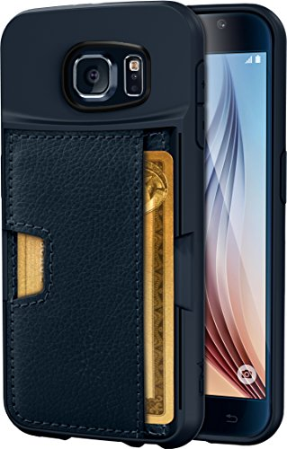 Silk Galaxy S6 Wallet Case - Q Card Case for Samsung Galaxy S6 - Ultra Slim CM4 ProtectiveKickstand Credit Card Carrying Case (Midnight Blue)