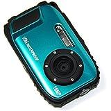 "PowerLead BP88 Camera Waterproof Digital Video Camera 2.7"" TFT Screen 5mp Underwater 9 Mega 8x Zoom Digital Camera-Blue"