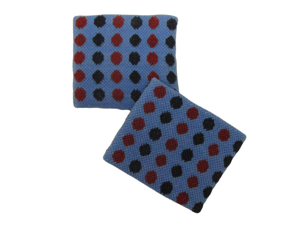 COUVER Cute Girl 2.5'' Width x 2'' Length Wristband, Polka Dot Blue(1 pair)