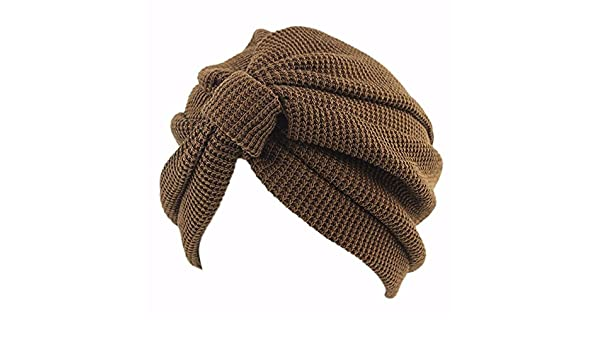 a5e996e88a185 OSISDFWA Moda Mujer Bufanda Gorro La Cabeza De Algodón India Sombrero  Sombrero Headcap Anoto Baotou Café Gorros De Punto  Amazon.es  Deportes y  aire libre