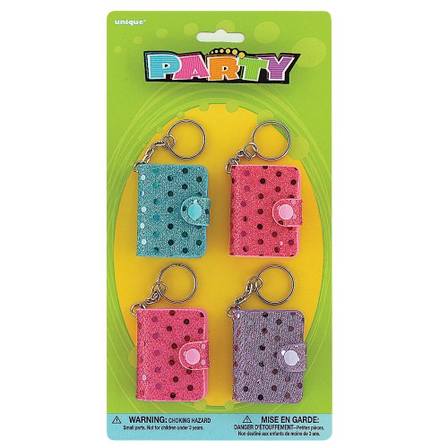 Sequin Notebook Keychain Party Favors