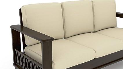 Hariom Handicraft Solid Sheesham Wood 3 Seater Sofa Set Wooden