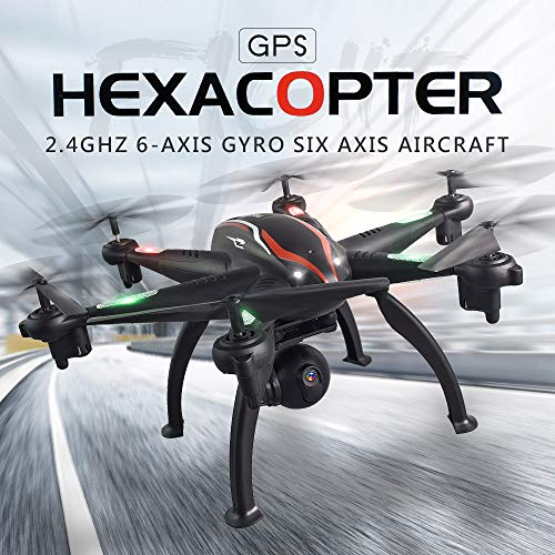 (L100 6Axis RC Quadcopter 5G/2.4G WIFI 120° Wide-angle 1080 HD Camera FPV Real-timeTransmission RC Drone Selfie Quadcopter - One-key Altitude Hold, GPS positioning, 360° Flip (A))