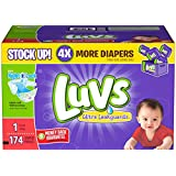 Luvs Ultra Leakguards Diapers-Size 1-174 Count