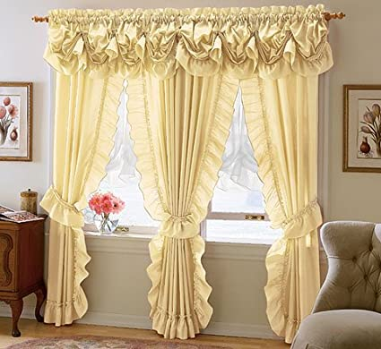 Amazon com: Mayfield Queen Anne Valance, 84