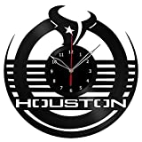 NFL Houston Texans Vinyl Record Wall Clock Fan Art Handmade Decor Unique Decorative Vinyl Clock 12″ (30 cm) #1