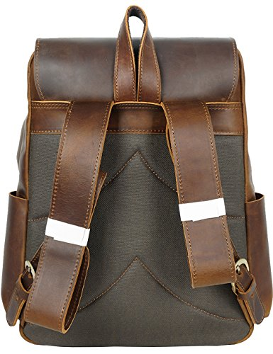 Men's Men's Yellow Genuine Rucksack Casual 8090 Leather Brown Genuine ZqCwHdRq