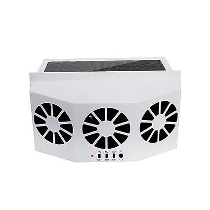 SRAR-BROL Solar Powered Car Window Air Vent Ventilator,With Three-Headed Fan
