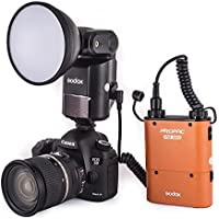 Godox Portable Advanced Flash Speedlite with 4500mah Battery Black Godox Neewer Witstro ad360 flash kit with Pb960 Battery Orange