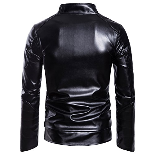 Coat And Paragraph Negro United Jackets B026 New Pu Short The States Leather Men's Locomotive Winter Europe OAqgBOxw