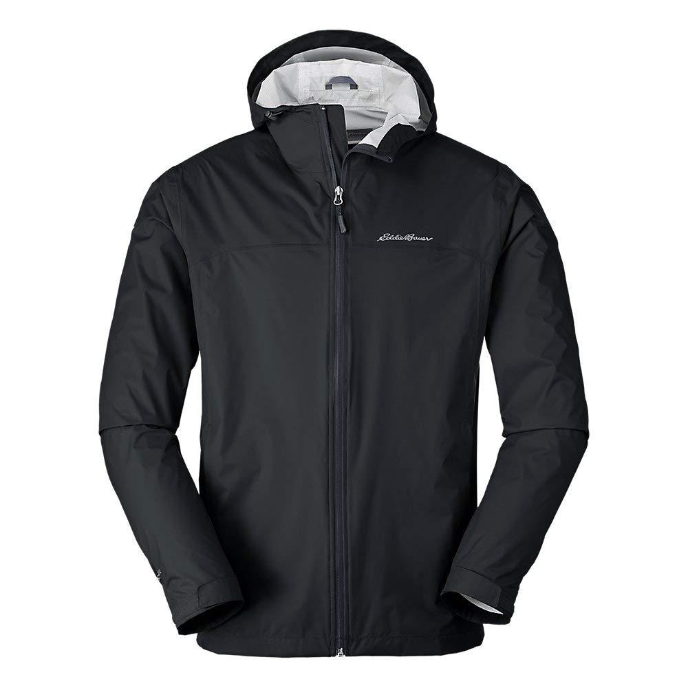Eddie Bauer Men's Cloud Cap Lightweight Rain Jacket, Black Regular L by Eddie Bauer