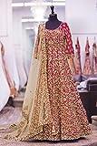 BHUMIK ENTERPRISE Designer Pink Embroidery Work Semi-Stitched Wedding Salwar Suit(BE-ER11144_Pink_FreeSize)