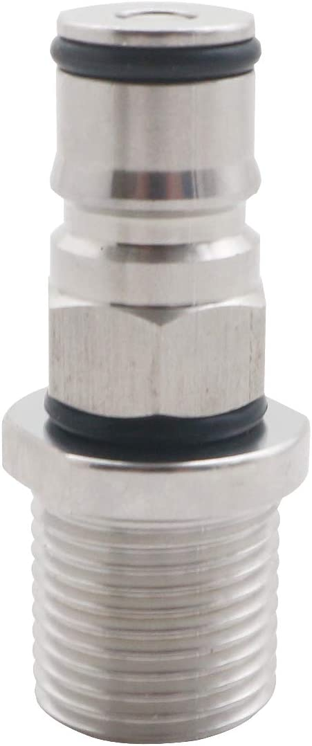 "Homebrew Cornelius Ball Lock Post with 1/2"" Male Thread Bulkhead Assembly Ball Lock Corny Keg Adapter (Liquid)"