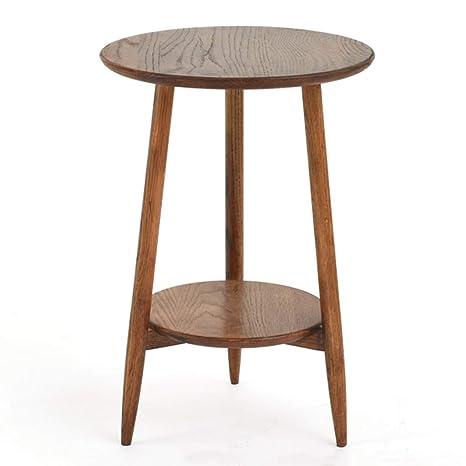 Amazon.com: Mesa de centro pequeña simple redonda lateral ...