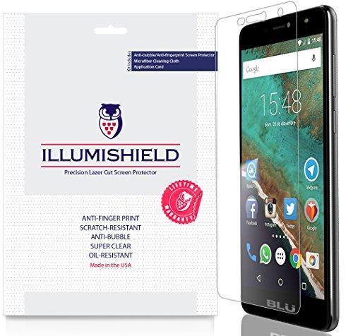iLLumiShield Screen Protector Compatible with BLU Studio XL 2 (3-Pack) Clear HD Shield Anti-Bubble and Anti-Fingerprint PET Film