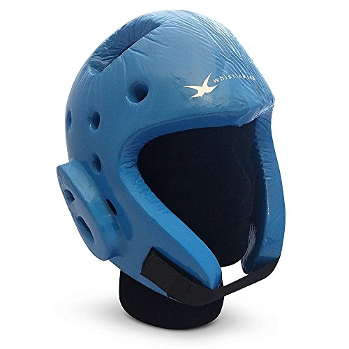 whistlekick Martial Arts Sparring Helmet (Baraccuda Light Blue, X-Large) with Free Backpack and Warranty-Taekwondo Martial Arts Sparring Equipment Gear Set