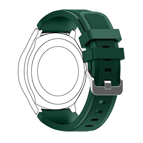 Samsung Gear S3 Classic Replacement Watch Band, Lookatool New Fashion Sports Silicone Bracelet Strap Band For Samsung Gear S3 Classic (Army Green)