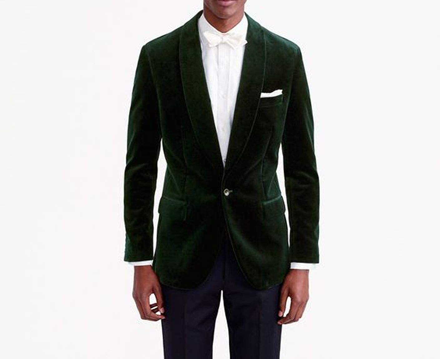 Pinkcityart Mens Smoking Jacket Green Velvet Blazer Hosting Evening Dinner Party Wear Coat Blazers