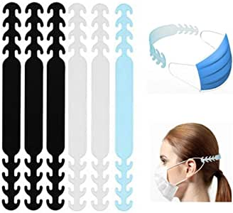 Wetben Mask Hook, Ear Protector Decompression Holder Free Ears Adjustable Anti-Tightening Extension Buckle Belt Strap Extender for Mask 6PCS