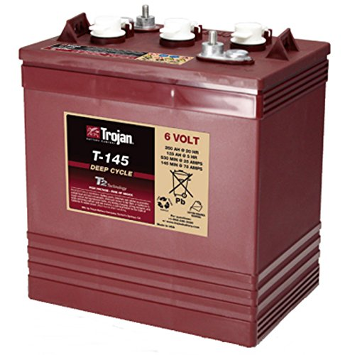 Trojan T-145 6V 260Ah Flooded Lead Acid Golf Cart Battery FAST USA SHIP (Trojan Batteries Volt 6)