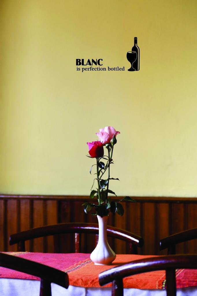 Blsnc is Perfection Bottled Color Design with Vinyl Moti 2633 1 Decal Black Size 10 Inches x 20 Inches Peel /& Stick Wall Sticker