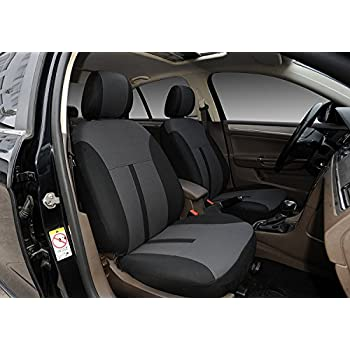 116001 Black Fabric 2 Front Car Seat Covers Compatible To Mazda 3 4 Door 5 6 CX 2018 2017 2007