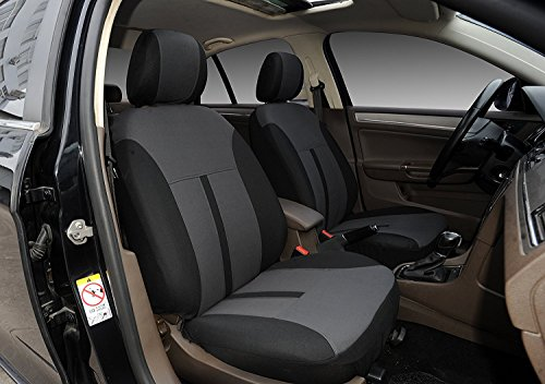 116001 Black-fabric 2 Front Car Seat Covers Compatible To FORD TRANSIT CONNECT 2018 2017-2007