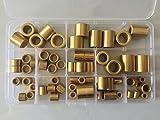 65pcs 4mm-12mm Inner Diameter Brass Sleeves Powder