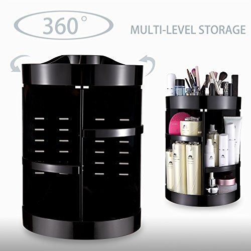 SONGXER 360-Degree Rotating Makeup Organizer, Adjustable Mul