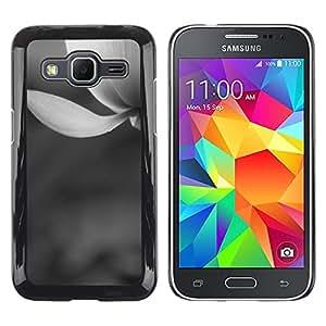 TopCaseStore / la caja del caucho duro de la cubierta de protección de la piel - White Snow Flower Spring Grey - Samsung Galaxy Core Prime SM-G360