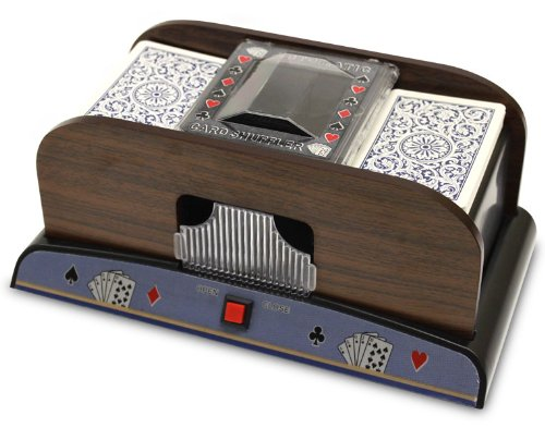 Brybelly Two Deck Wooden Automatic Card Shuffler (Card Shuffler 1 Deck)