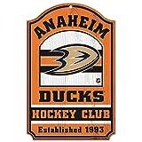 WinCraft NHL Anaheim Ducks 35956014 Wood Sign, 11'' x 17'', Black