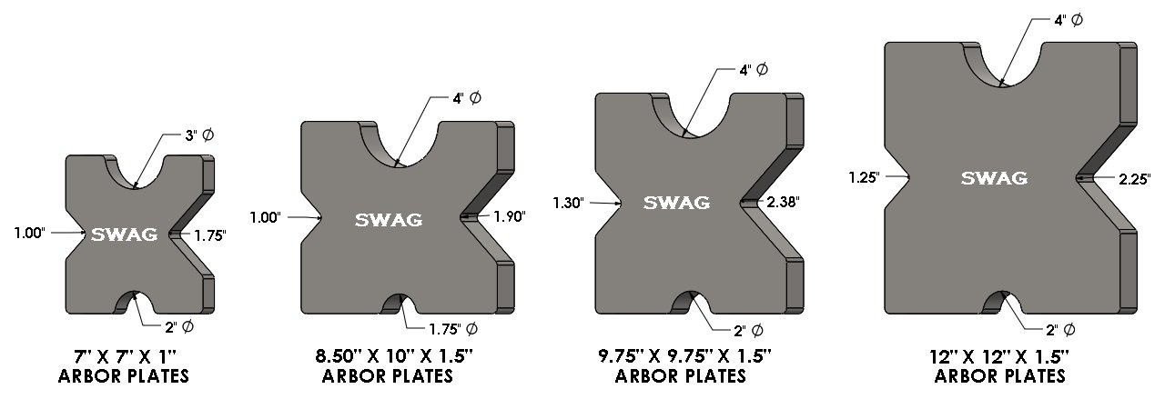 Arbor Press Plates 8.50'' X 10.00'' X 1.5'' by SWAG Offroad (Image #2)