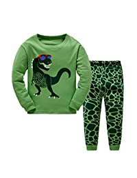 Little Boys Dinosaur Pajama Sets Cotton PJS Set Toddler Sleepwear Size 2-7 Years