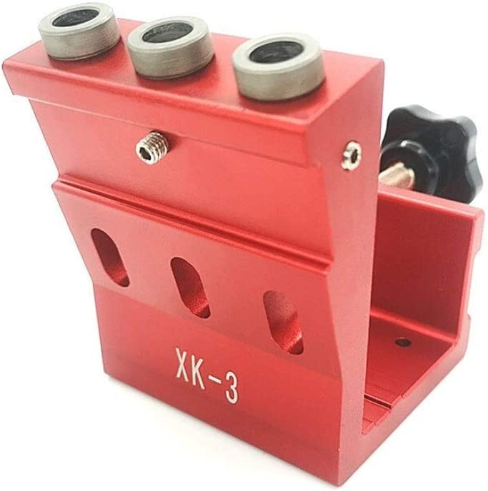 JYSLI Quality Upgraded 9mm Oblique Hole Drill 15 Degree Angle Locator Bits Hole Jig Woodwork Guide Clamp Locator Set Kit Woodworking DIY Tools contact (Color : Set A Red) Set a Red