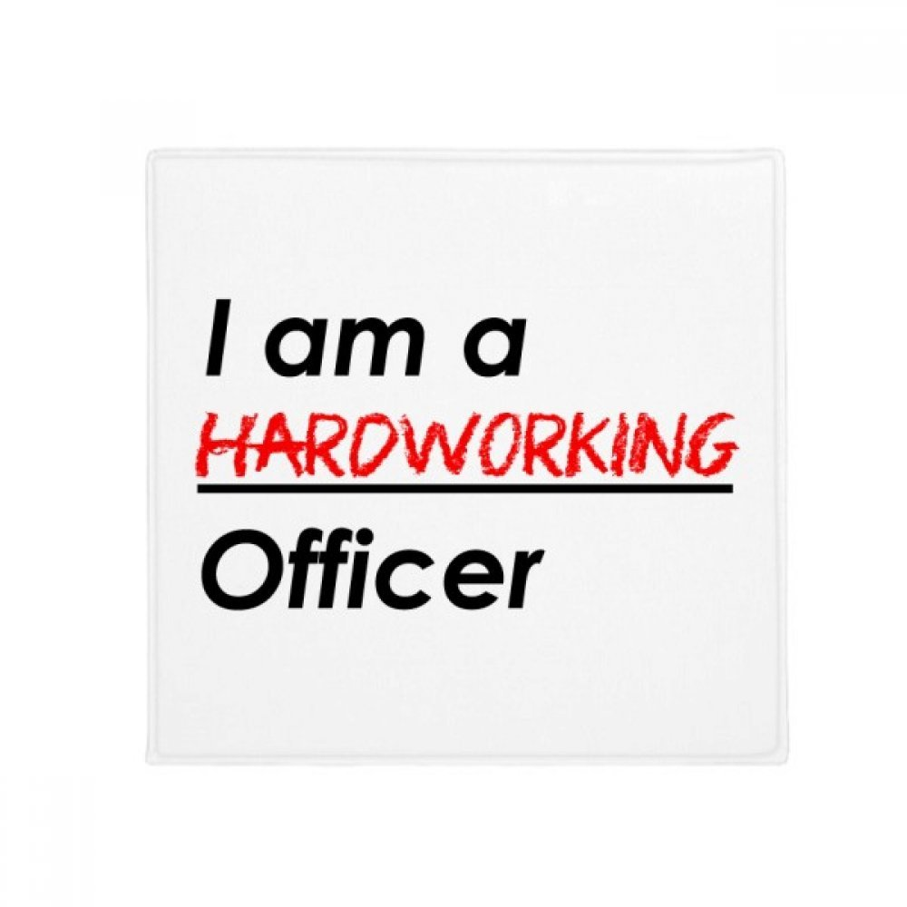 DIYthinker Quote I Am A Hardworking Officer Anti-Slip Floor Pet Mat Square Home Kitchen Door 80Cm Gift